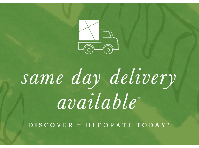 Same day delivery available*